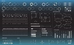 Σύνολο γραπτών infographic στοιχείων Στοκ Φωτογραφίες