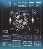 Σύνολο γραπτών infographic στοιχείων Head-up στοιχεία επίδειξης για τον Ιστό και app Φουτουριστικό ενδιάμεσο με τον χρήστη Στοκ Εικόνες