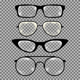 Σύνολο γυαλιών συνήθειας που απομονώνεται Στοκ φωτογραφία με δικαίωμα ελεύθερης χρήσης