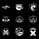 Σύνολο Διανυσματική απεικόνιση λογότυπων σερφ Στοκ φωτογραφία με δικαίωμα ελεύθερης χρήσης
