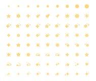 Σύνολο εικονιδίου αστεριών Στοκ Εικόνες