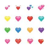 Σύνολο εικονιδίου καρδιών Στοκ φωτογραφία με δικαίωμα ελεύθερης χρήσης