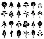 Σύνολο 1 εικονιδίων δέντρων Στοκ Φωτογραφίες