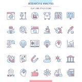 Σύνολο εικονιδίων έρευνας και ανάλυσης ελεύθερη απεικόνιση δικαιώματος