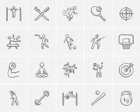 Σύνολο εικονιδίων αθλητικών σκίτσων απεικόνιση αποθεμάτων