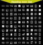 Σύνολο εικονιδίων ανάγνωσης Στοκ φωτογραφίες με δικαίωμα ελεύθερης χρήσης