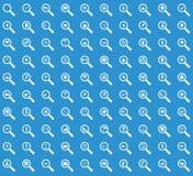 Σύνολο εικονιδίων αναζήτησης, μπλε Στοκ φωτογραφία με δικαίωμα ελεύθερης χρήσης
