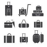 Σύνολο εικονιδίων αποσκευών Στοκ φωτογραφία με δικαίωμα ελεύθερης χρήσης