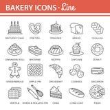 Σύνολο εικονιδίων αρτοποιείων Στοκ φωτογραφίες με δικαίωμα ελεύθερης χρήσης