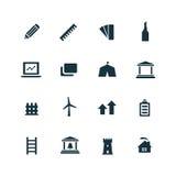 Σύνολο εικονιδίων αρχιτεκτονικής Στοκ εικόνα με δικαίωμα ελεύθερης χρήσης