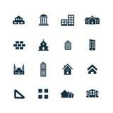 Σύνολο εικονιδίων αρχιτεκτονικής Στοκ Εικόνες