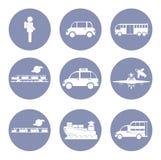 Σύνολο εικονιδίων αυτοκινήτων ή οχημάτων, έννοια μεταφορών για την παρουσίαση σχεδίου μέσα Στοκ Φωτογραφία