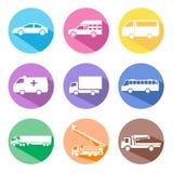 Σύνολο εικονιδίων αυτοκινήτων Στοκ Εικόνες