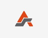 Σύνολο εικονιδίων αλφάβητου λογότυπων γραμμάτων Α Στοκ Εικόνες