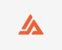 Σύνολο εικονιδίων αλφάβητου λογότυπων γραμμάτων Α Στοκ Εικόνα