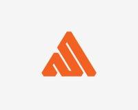 Σύνολο εικονιδίων αλφάβητου λογότυπων γραμμάτων Α Στοκ εικόνα με δικαίωμα ελεύθερης χρήσης