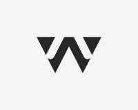 Σύνολο εικονιδίων αλφάβητου λογότυπων γραμμάτων W Στοκ εικόνες με δικαίωμα ελεύθερης χρήσης