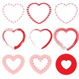 Σύνολο εικονιδίων βαλεντίνων καρδιών Στοκ εικόνα με δικαίωμα ελεύθερης χρήσης