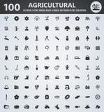 Σύνολο εικονιδίων γεωργίας διανυσματική απεικόνιση