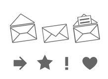 Σύνολο εικονιδίων για τα μηνύματα διανυσματική απεικόνιση
