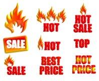 Σύνολο εικονιδίων για την πώληση Στοκ Εικόνες