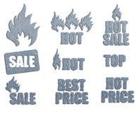 Σύνολο εικονιδίων για την πώληση Στοκ φωτογραφία με δικαίωμα ελεύθερης χρήσης