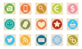 Σύνολο εικονιδίων γραμματοσήμων Στοκ φωτογραφίες με δικαίωμα ελεύθερης χρήσης