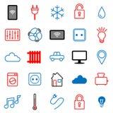 Σύνολο 25 εικονιδίων Διαδίκτυο των πραγμάτων Στοκ φωτογραφία με δικαίωμα ελεύθερης χρήσης