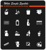 Σύνολο εικονιδίων επιχείρησης καθαρισμού διανυσματική απεικόνιση