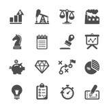 Σύνολο εικονιδίων επιχειρήσεων και χρηματοδότησης, διανυσματικό eps10 Στοκ Εικόνα