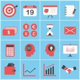 Σύνολο εικονιδίων επιχειρήσεων και χρηματοδότησης καθορισμένων διανυσματικών απεικόνιση αποθεμάτων