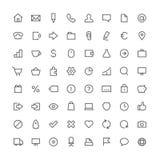 Σύνολο 64 εικονιδίων επιχειρησιακών συνολικό περιλήψεων απεικόνιση αποθεμάτων