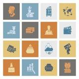 σύνολο εικονιδίων επιχ&epsil Στοκ εικόνα με δικαίωμα ελεύθερης χρήσης