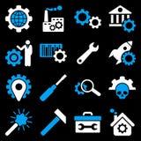 Σύνολο εικονιδίων επιλογών και εργαλείων υπηρεσιών Στοκ εικόνα με δικαίωμα ελεύθερης χρήσης