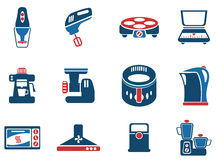Σύνολο εικονιδίων εργαλείων κουζινών Στοκ φωτογραφίες με δικαίωμα ελεύθερης χρήσης