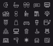 Σύνολο εικονιδίων ζωής νύχτας Στοκ εικόνες με δικαίωμα ελεύθερης χρήσης