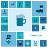 Σύνολο εικονιδίων ημέρας Αγίου Patricks Στοκ Εικόνες