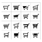 Σύνολο εικονιδίων κάρρων αγορών Στοκ Εικόνες