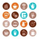 Σύνολο εικονιδίων καφέ διάνυσμα διανυσματική απεικόνιση