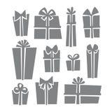 Σύνολο εικονιδίων κιβωτίων δώρων Στοκ Εικόνα