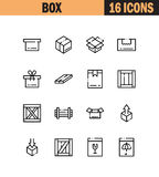 Σύνολο εικονιδίων κιβωτίων Στοκ εικόνες με δικαίωμα ελεύθερης χρήσης