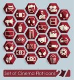 Σύνολο εικονιδίων κινηματογράφων Στοκ εικόνα με δικαίωμα ελεύθερης χρήσης