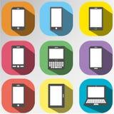 Σύνολο εικονιδίων κινητής, συσκευής ταμπλετών για την επικοινωνία απεικόνιση αποθεμάτων