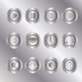 Σύνολο εικονιδίων κουμπιών ελέγχου συσκευών αναπαραγωγής πολυμέσων ui Στοκ εικόνες με δικαίωμα ελεύθερης χρήσης