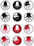 Σύνολο εικονιδίων κουδουνιών Στοκ εικόνες με δικαίωμα ελεύθερης χρήσης