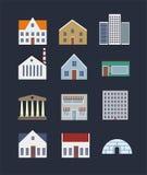 Σύνολο εικονιδίων κτηρίων Στοκ φωτογραφία με δικαίωμα ελεύθερης χρήσης