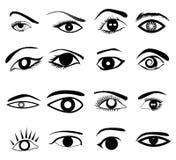 Σύνολο εικονιδίων ματιών απεικόνιση αποθεμάτων