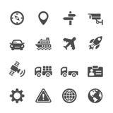 Σύνολο εικονιδίων μεταφορών, διανυσματικό eps 10 Στοκ Εικόνα