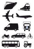 Σύνολο εικονιδίων μεταφορών Στοκ εικόνα με δικαίωμα ελεύθερης χρήσης