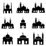 Σύνολο 1 εικονιδίων μουσουλμανικών τεμενών Στοκ εικόνα με δικαίωμα ελεύθερης χρήσης